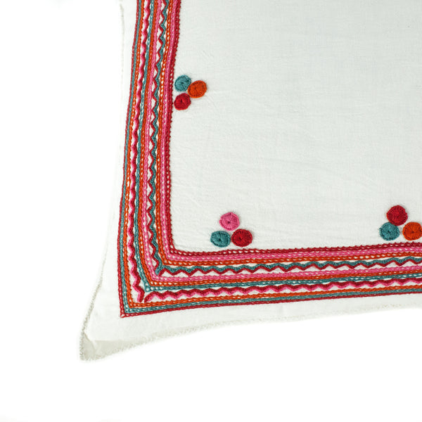 Chiapas Embroidered Pillow I detail