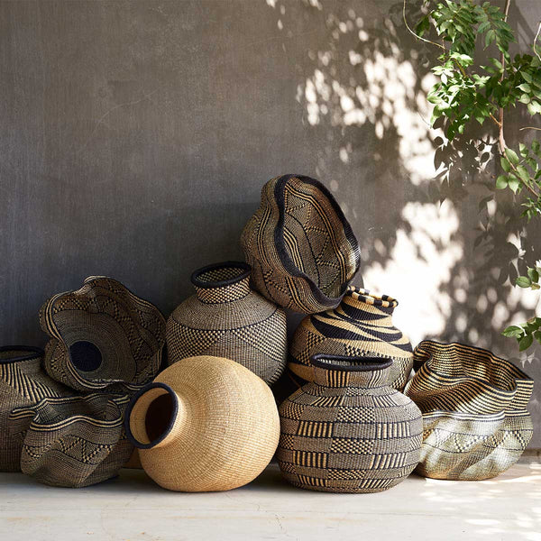 Handwoven African baskets from Ghana