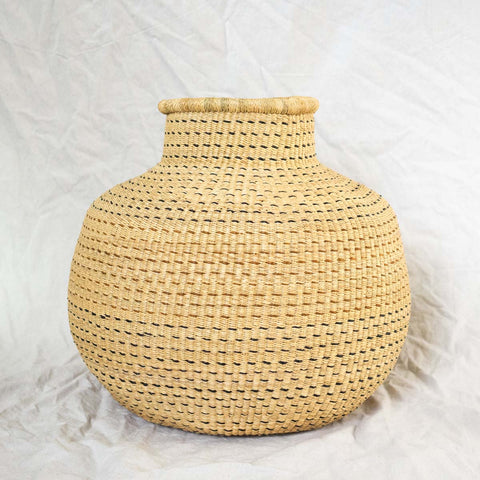 Ghana Basket XIX is a handwoven decorative African basket