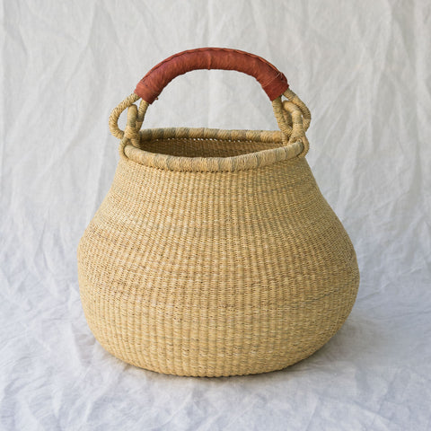 African Pot Basket II - natural