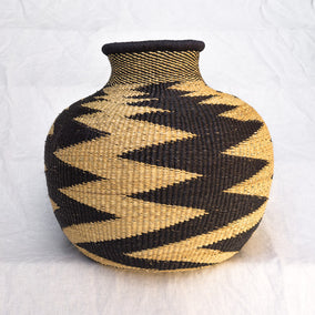Ghana Basket with zig zag pattern