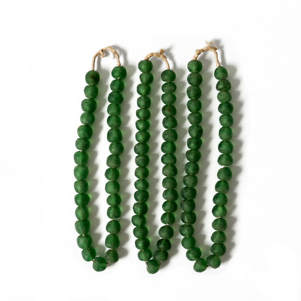 Glass Trade Beads - Green