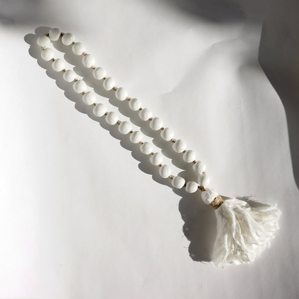 Clay Beads with Muslin Tassel