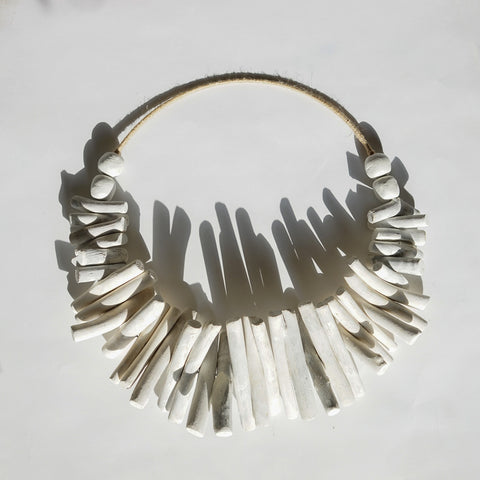 Driftwood Wall Hanging in white by Harper & Wilde