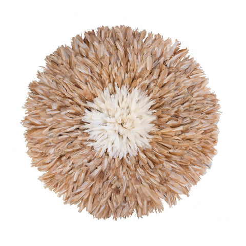 Large Juju Hat in Tan with White Center