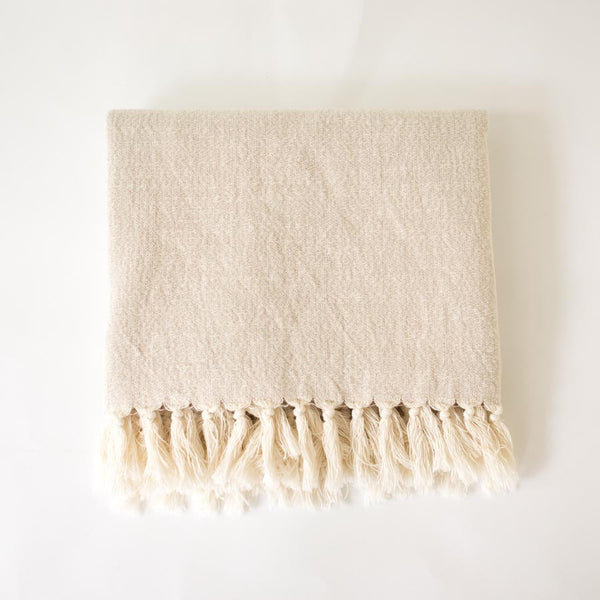 Turkish Towel - Natural - folded