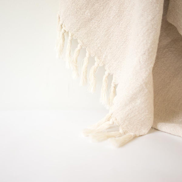 Turkish Towel - Natural draped