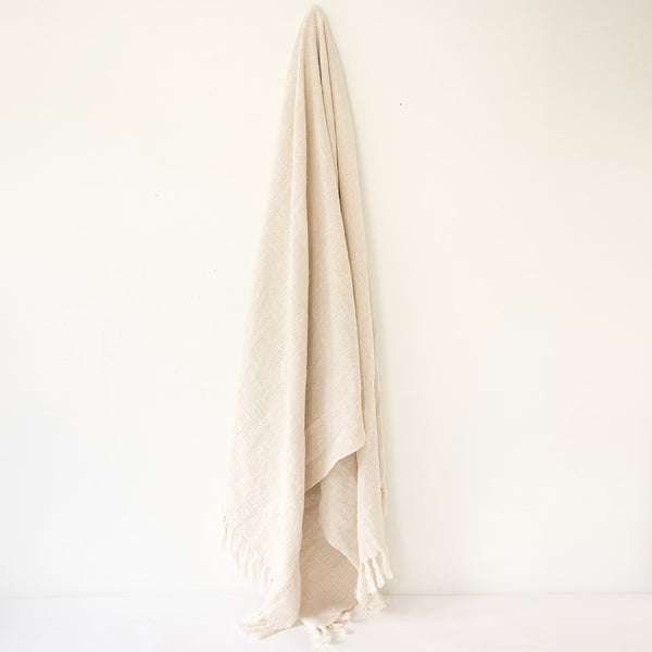 Turkish Towel - Natural hanging