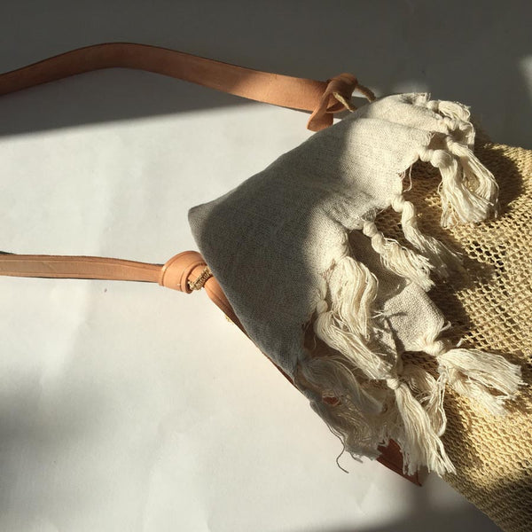 Agave String Bag in Natural with Peshtamel