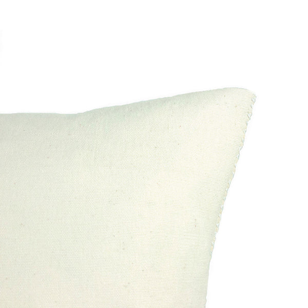 Solid white back of San Cristobal Brocade Pillow IV