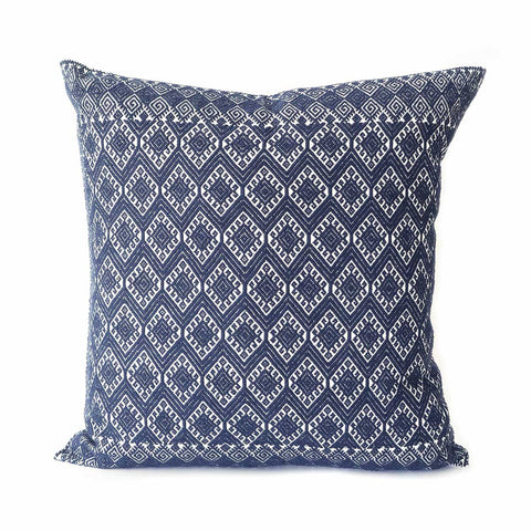 San Cristobal Brocade Pillow IV - Navy