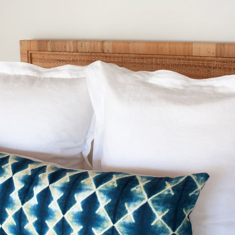 Shibori Lumbar Pillow I on bed