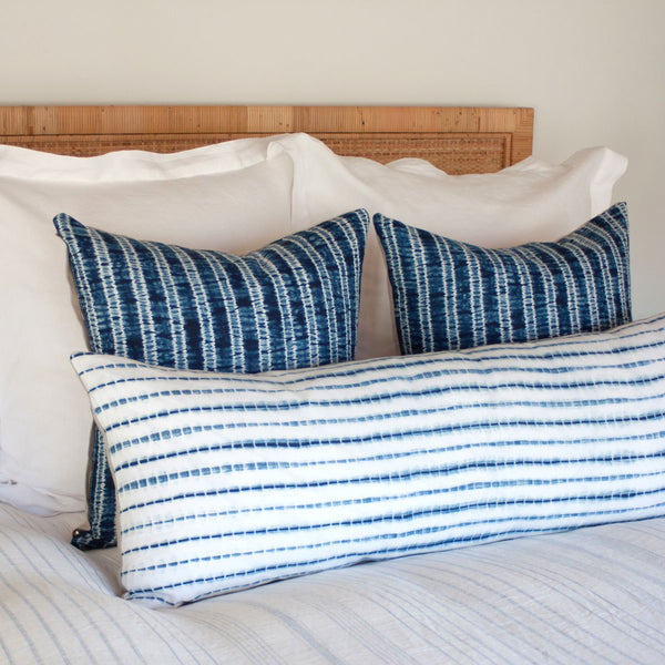 Shibori Pillow III on bed