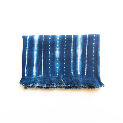 Tensira indigo throw ii folded
