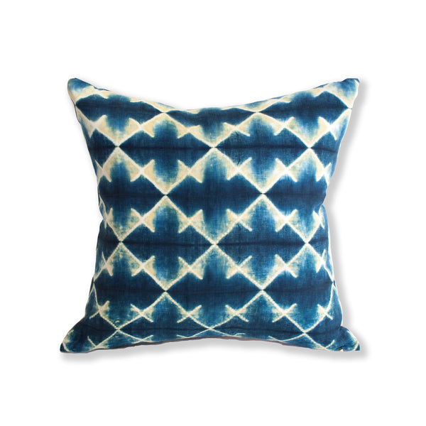 Shibori Indigo Pillow I from Thailand