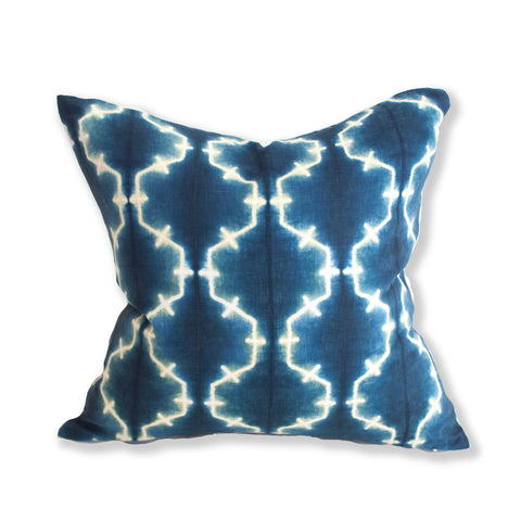 Shibori square pillow