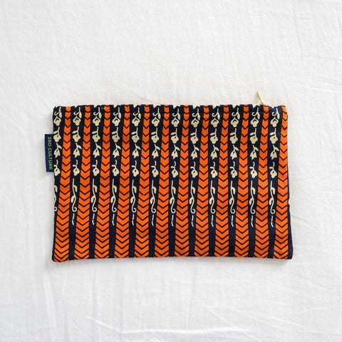 Wax Print Clutch IX with West African fabric