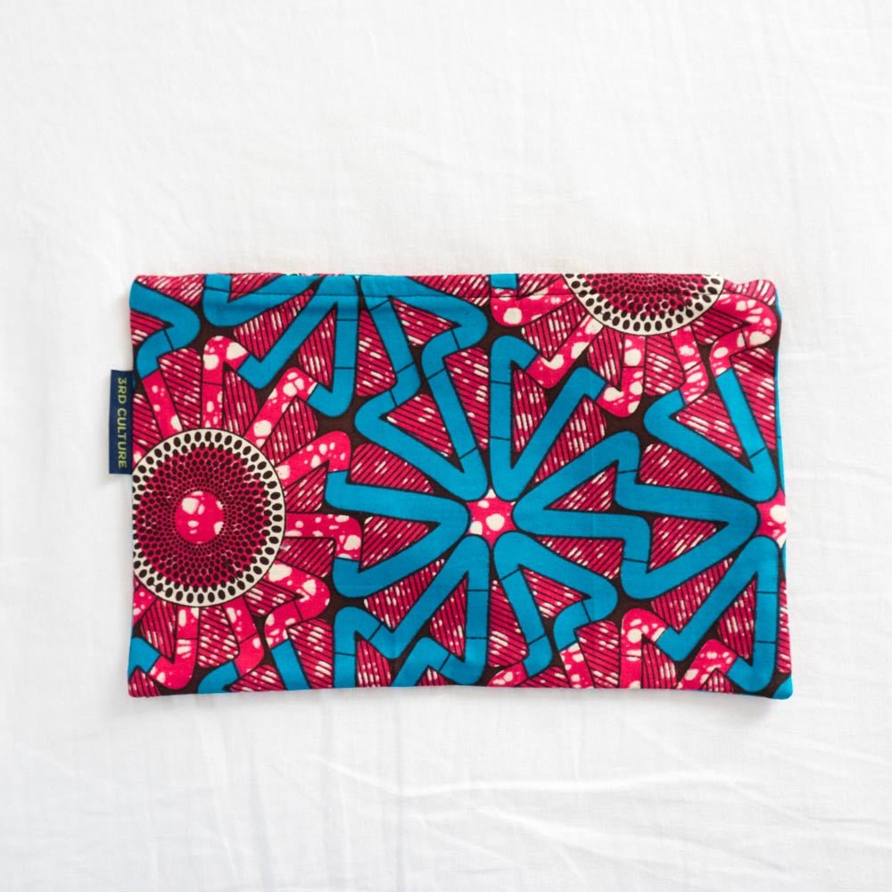 Wax Print Clutch II with West African fabric