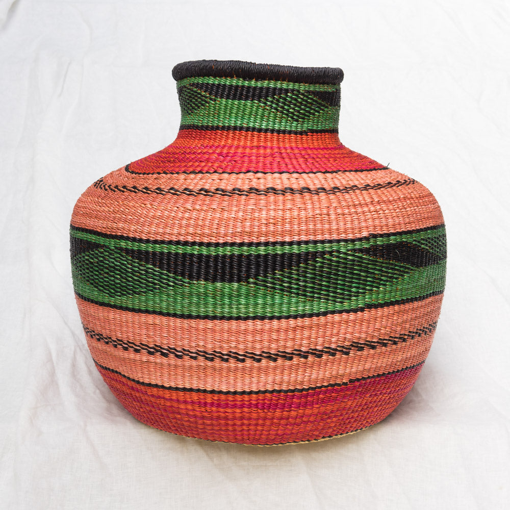 Colorful African basket from Ghana