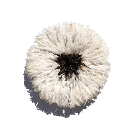 small Juju Hat in white with brown center