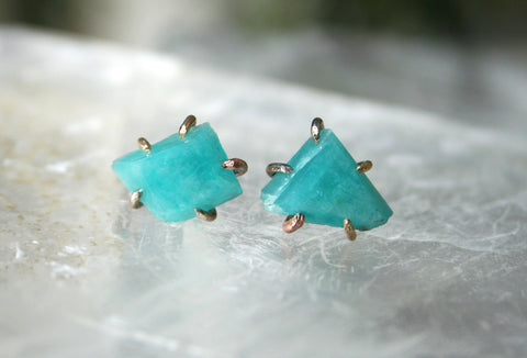 Variance Objects: Amazonite studs