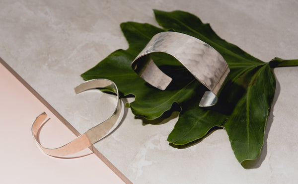 silver hammered wave cuffs by fail jewelry