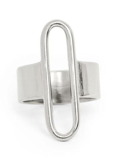 parallel ring silver minoux