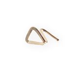 14K Triangle Stud
