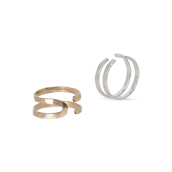 | joan ring | this hand-forged ring provides the right amount of balance for a versatile and striking piece, whether worn solo or stacked as part of a collection, it exudes a style-defining vibe | available in 14K yellow and rose gold-fill, or sterling silver | #failjewelry