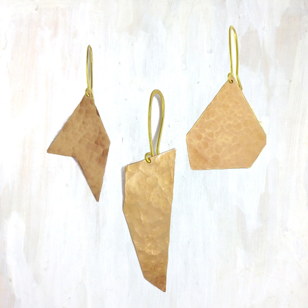 | modern ornaments | hand forged and hammered brass, these ornaments are perfect for the tree or as a gift topper | #failjewelry