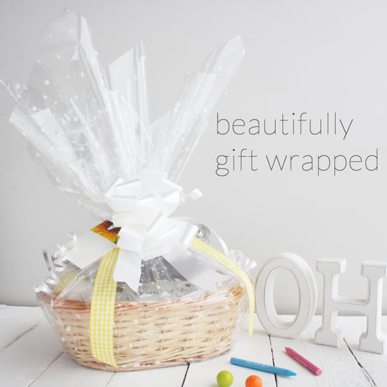 Create a baby gift basket