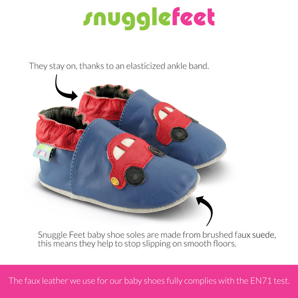 Red Cars Vegan Faux Leather Baby Shoes