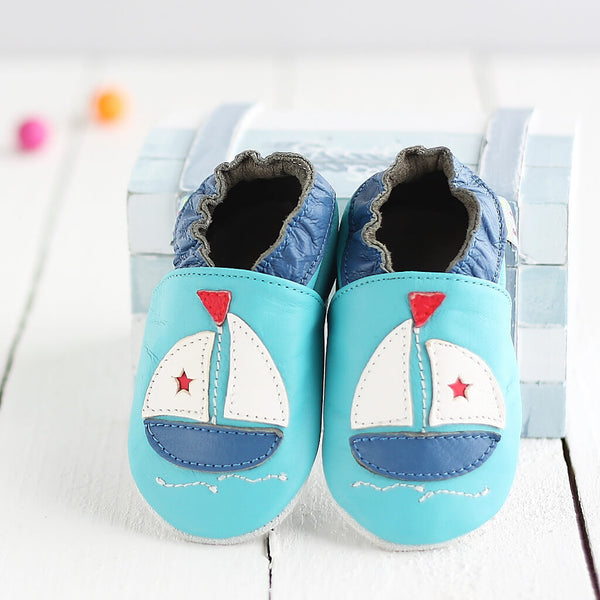 Boat Soft Leather Baby Shoes | Front View | Boys | Lifestyle