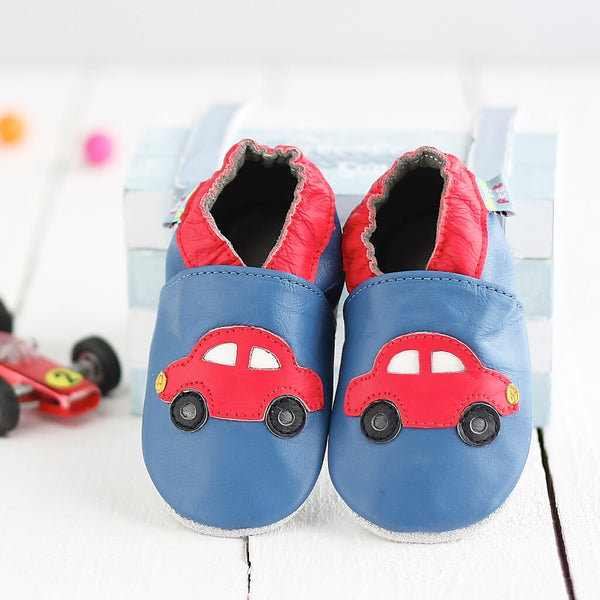 Red Cars Soft Leather Baby Shoes | Lifestyle