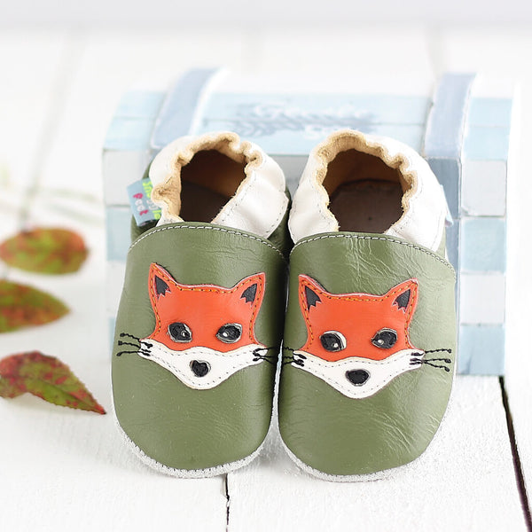 Fox Green Soft Leather Baby Shoes | Lifestyle