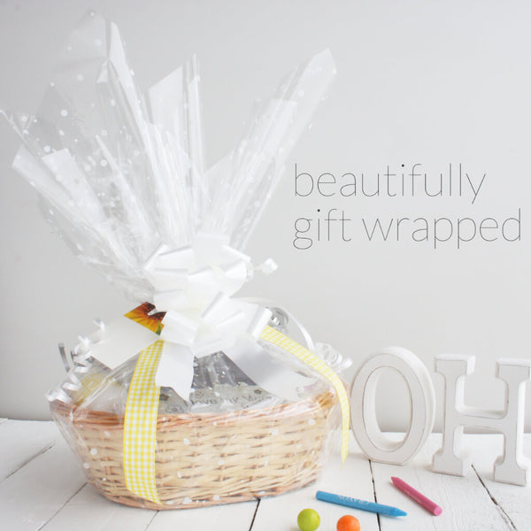 Double Deluxe Twin New Baby Gift Basket | Hamper | Gift Wrap 2