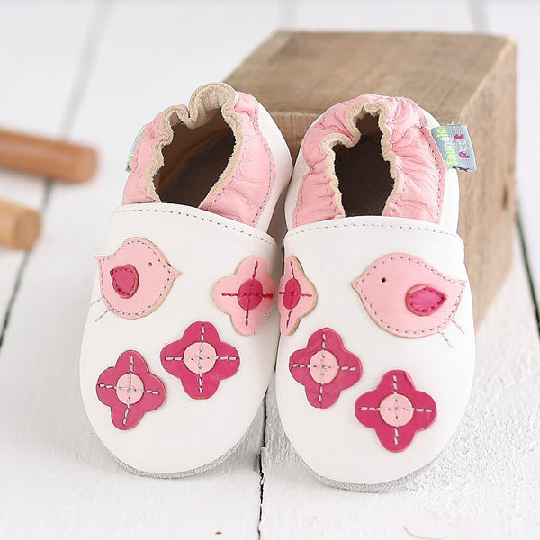 Pretty Birds Baby Shoe & Baby Suit Gift Set | Lifestyle
