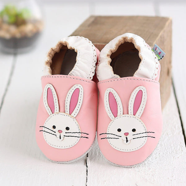 Pink Bunny Soft Leather Baby Shoes | Lifestyle