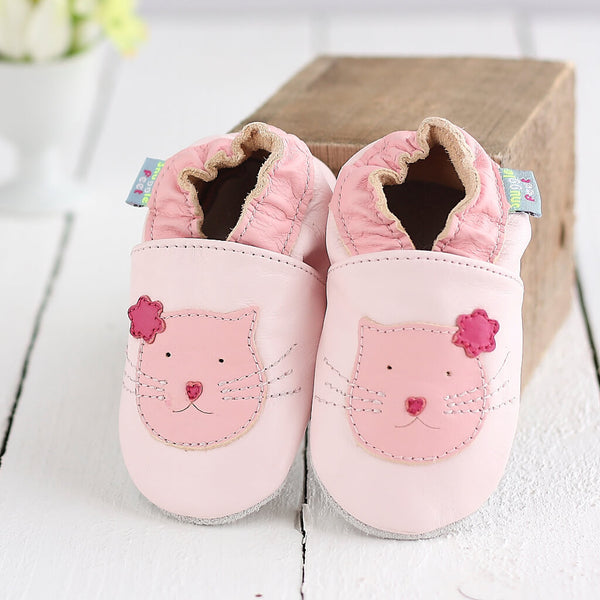 Pink Cute Kitten Soft Leather Baby Shoes | Lifestyle