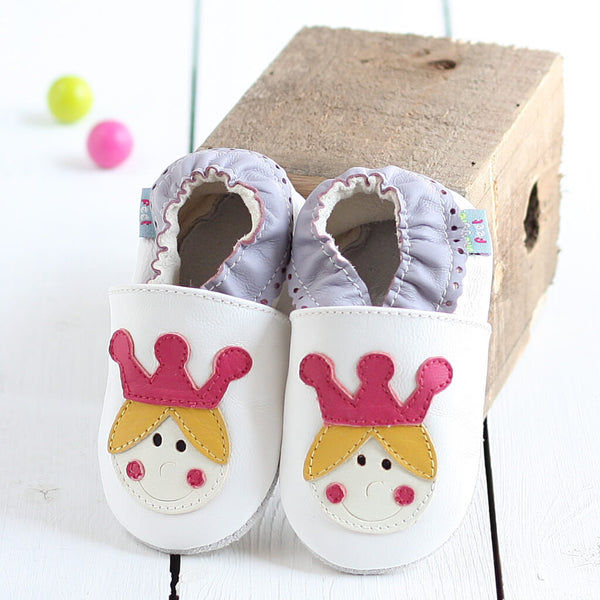 Princess Crown Soft Leather Baby Shoes | Lifestyle