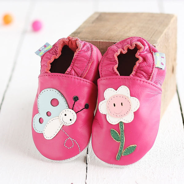 Smiley Flower Soft Leather Baby Shoes | Lifestyle