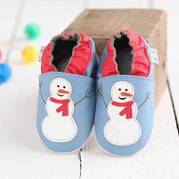 Snowman Soft Leather Baby Shoes | Lifestyle