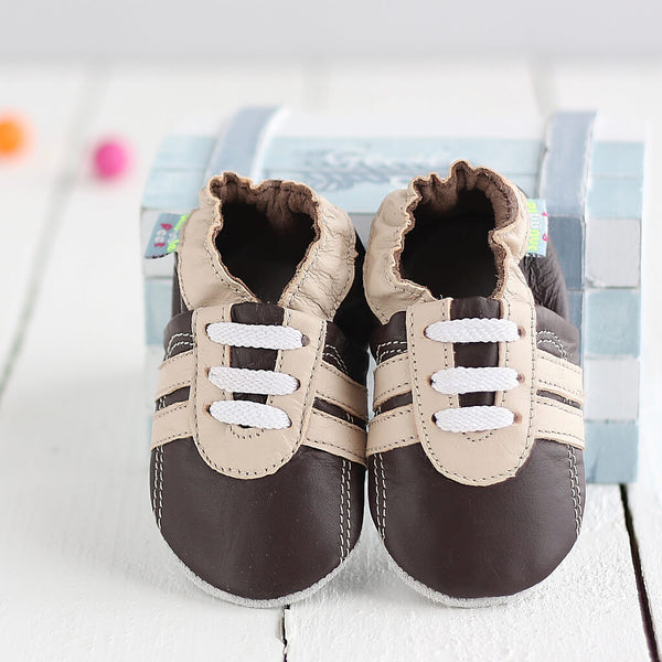 Brown Trainer Soft Leather Baby Shoes | Lifestyle