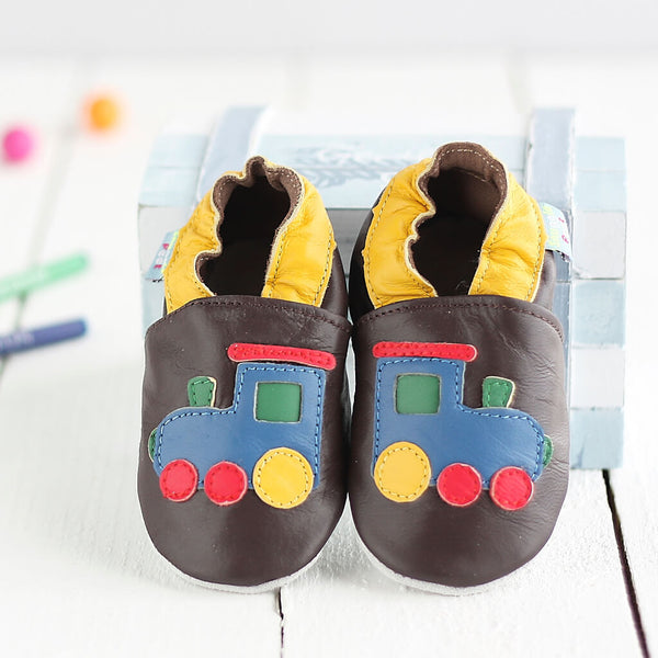 Train Soft Leather Baby Shoes | Lifestyle