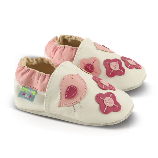Pretty Birds Soft Leather Baby Shoes | Side View