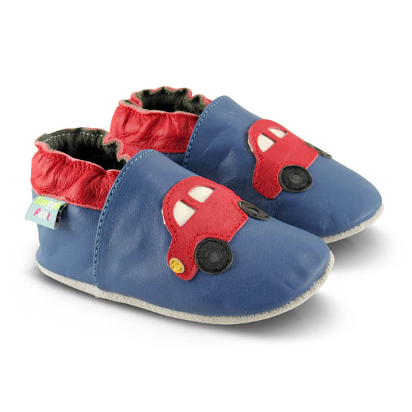 Red Cars Soft Leather Baby Shoes | Side View