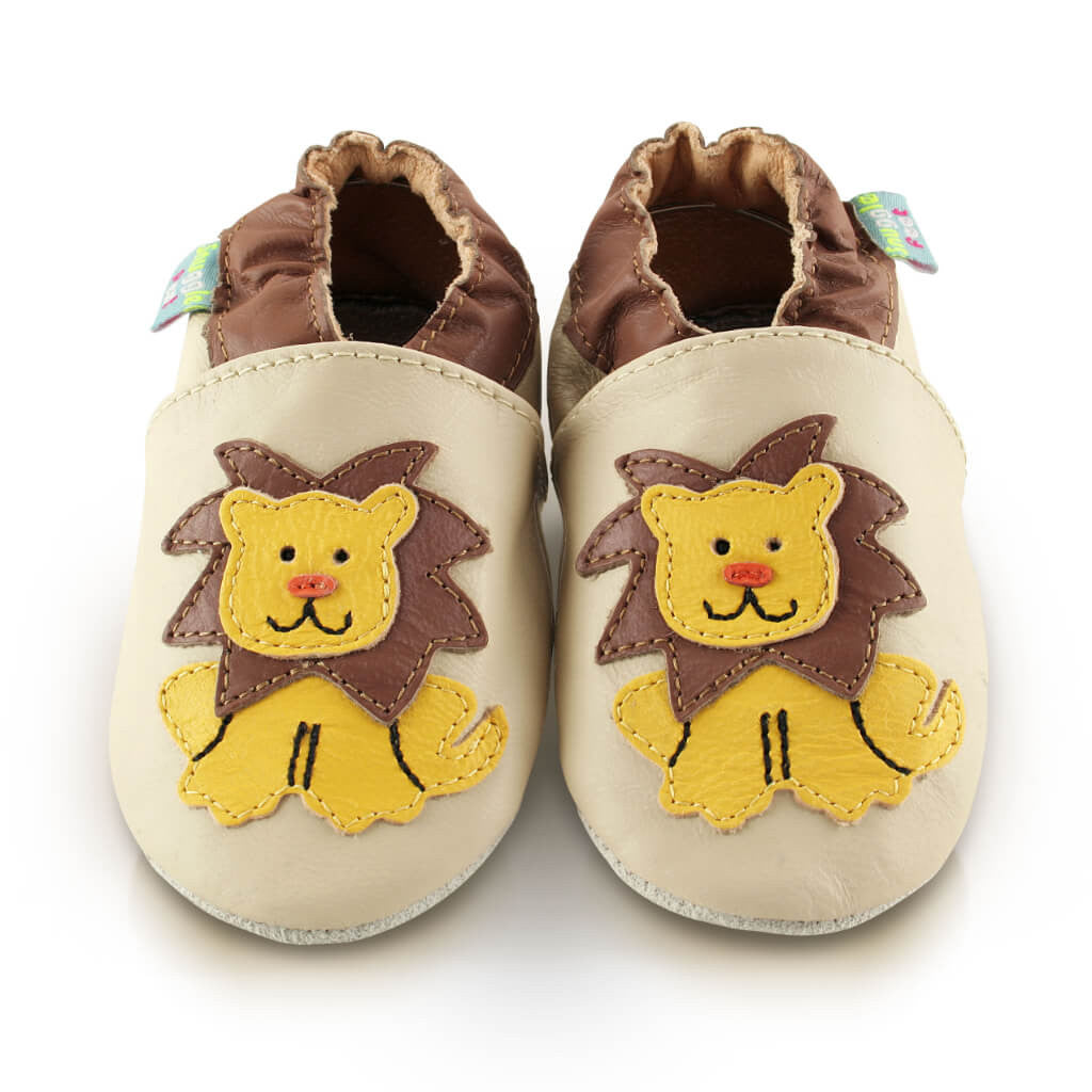 8ee15b57486 Lion Soft Faux Vegan Leather Baby Shoes