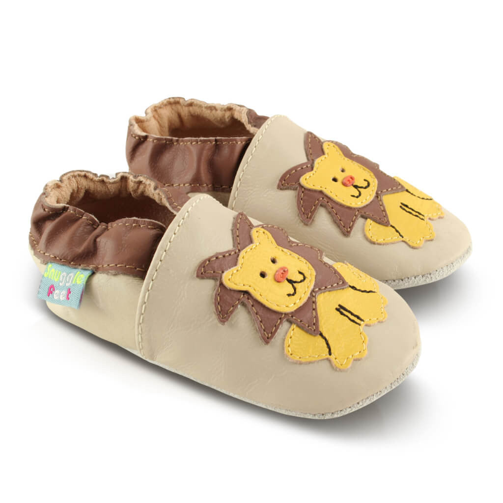 384b6fe1db211 ... Hungry Lion Soft Leather Baby Shoes