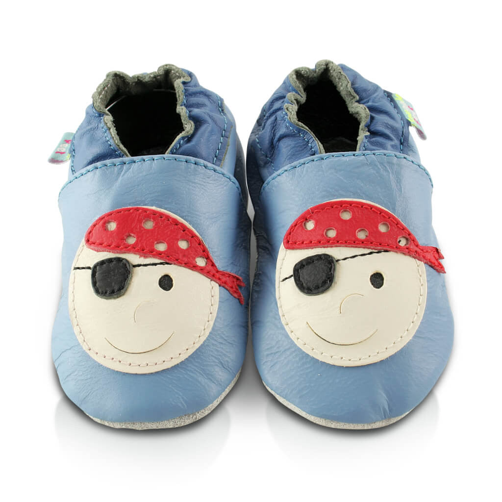 62cf7c5568ae Pirate Soft Faux Vegan Leather Baby Shoes