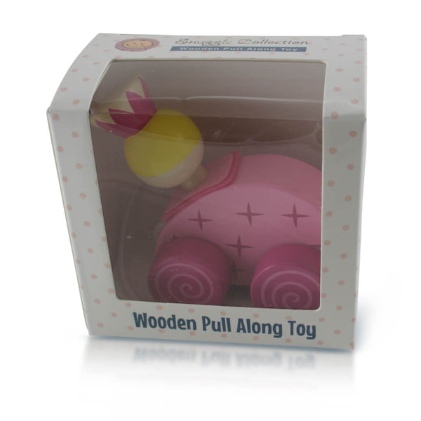Boxed | Personalised Pink Princess Wooden Pull Along Toy